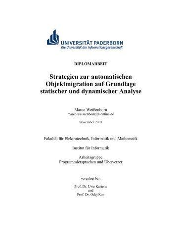 Strategien zur automatischen Objektmigration auf Grundlage ...