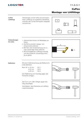 Handhabung und Montage - LOGSTOR