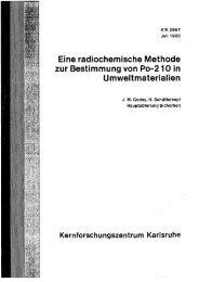 Eine radiochemische Methode zur Bestimmung von Po ... - Bibliothek