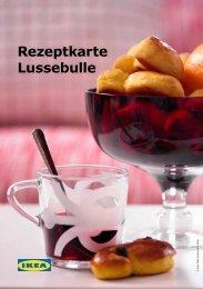 Rezeptkarte Lussebulle - Ikea