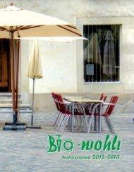 Katalog anschauen - BIO-wohli online