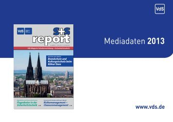 s+s report - Mediadaten 2013 - VdS