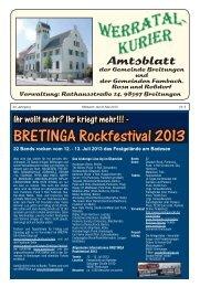 BRETINGA Rockfestival 2013 - Gemeinde Breitungen an der Werra