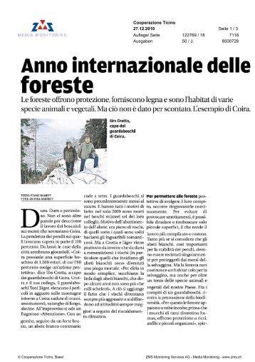 foreste - WWF Schweiz