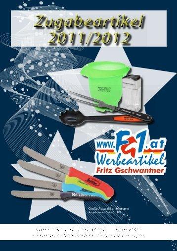 Zugabeartikel 2011/2012 Zugabeartikel 2011/2012 - FG1.at ...
