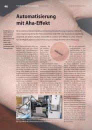 Automatisierung mit Aha-Effekt - Bachmann Engineering AG