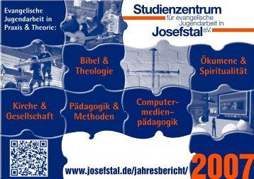 Josefstale.V. - Studienzentrum für evangelische Jugendarbeit in ...