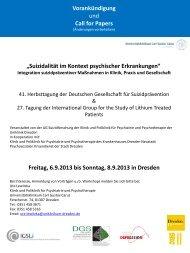 Suizidalität im Kontext psychischer Erkrankungen - Deutsche ...