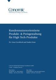 Kundennutzenorientierte Produkt - Conomic Marketing & Strategy ...