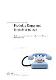 Produkte länger und intensiver nutzen - Institut für ökologische ...