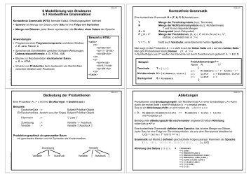 6 Modellierung von Strukturen 6.1 Kontextfreie ... - AG-Kastens
