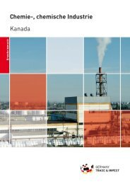Chemie-, chemische Industrie Kanada - Germany Trade & Invest