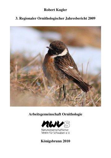 3. Regionaler Ornithologischer Jahresbericht 2009