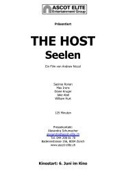 Presseheft The Host - Ascot Elite Entertainment Group
