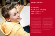 Vorschule und Schule - Hertie Stiftung