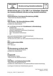 Strukturvertrag Gestationsdiabetes - Kassenärztliche Vereinigung ...