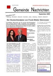 Gemeinde Nachrichten 2009, Ausgabe 2 - SPD Jesteburg