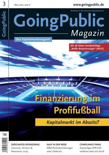 Finanzierung im Profifußball Finanzierung im Profifußball