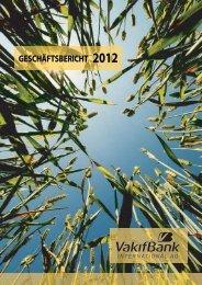 GESCHÄFTSBERICHT 2012 - VakifBank International AG