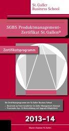 SGBS Produktmanagement - St. Galler Business School