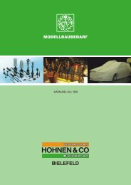 Download Modellbaukatalog - Hohnen und Co.