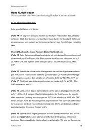 Rede Hans Rudolf Matter, Vorsitzender der Konzernleitung - Basler ...