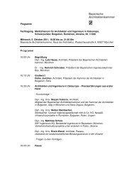 Programm Fachtagung Marktchancen für Architekten und ...