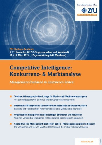 Competitive Intelligence: Konkurrenz- & Marktanalyse - ZFU ...