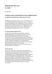 PRESSEMITTEILUNG Nr. 02/09 Ventana erobert Marktanteile in ...