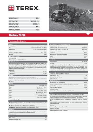Radlader TL210 - Mann und Magar GmbH