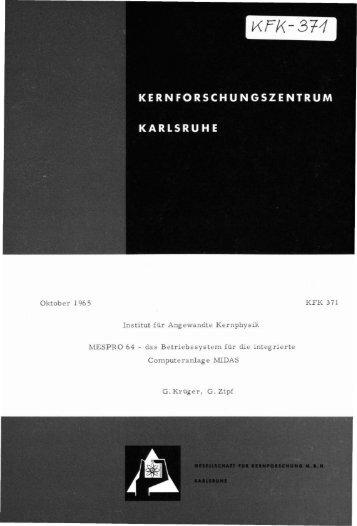 Oktober 1965 Institut für Angewandte Kernphysik ... - Bibliothek