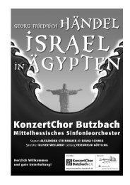 Programmheft zum Konzert Händel - KonzertChor Butzbach