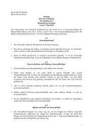 Satzung über die Erhebung der Hundesteuer - Plankstadt