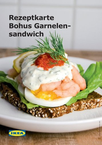 Rezeptkarte Bohus Garnelen- sandwich - Ikea