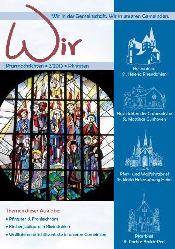Pfarrbrief (PDF) - Sankt-Helena