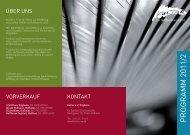 PROGRAMM 2011/2 - Kultur