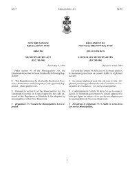 NEW BRUNSWICK REGULATION 84-86 under the RÈGLEMENT ...