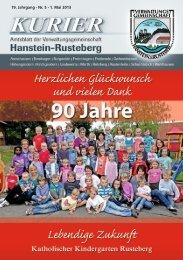 19. Jahrgang Nr. 5 1. Mai 2013 - VG Hanstein-Rusteberg