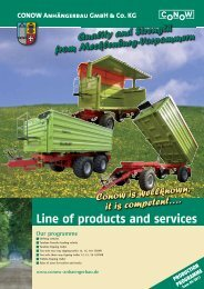 Line of products and services - bei Conow Anhängerbau GmbH ...