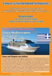 Unsere Griechenland - Sensation 2013: 1 Woche - 5 vor 12 Reisen