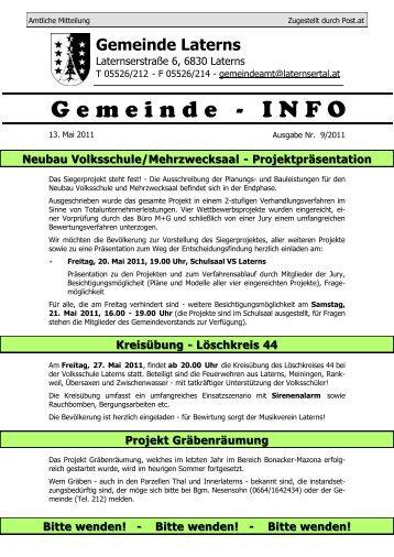Gemeinde-Info Nr. 9/2011 - Gemeinde Laterns