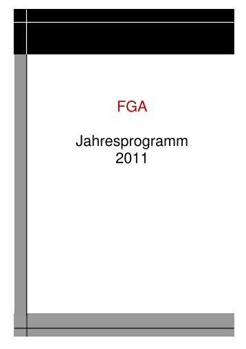FGA Jahresprogramm 2011