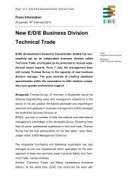 New E/D/E Business Division Technical Trade - E/D/E Einkaufsbüro ...