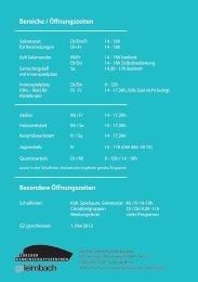 Bereiche / Öffnungszeiten Besondere Öffnungszeiten - Zürcher ...