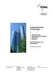 Ausschnitte aus Bauordnungen bezüglich Aufzüge - Weymann ...
