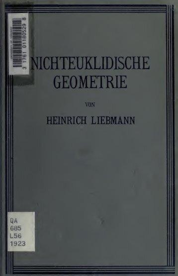 Nichteuklidische Geometrie