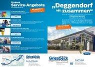 Flyer Aktion Hochwasser-Hilfe - Autohaus Griesbeck