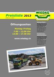 Preisliste 2013 - J. Grimm AG