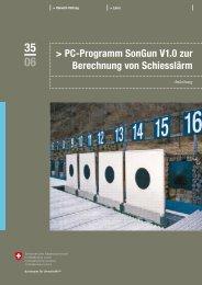 PC-Programm SonGun V1.0 zur Berechnung von Schiesslärm - BAFU