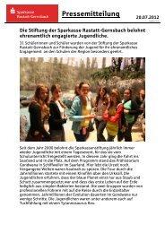 Vorlage Pressemitteilung - Sparkasse Rastatt-Gernsbach